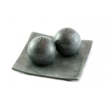 Stone Salt and Pepper Shakers
